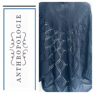 Anthropologie Knit Cardigan Sweater Navy XS Small